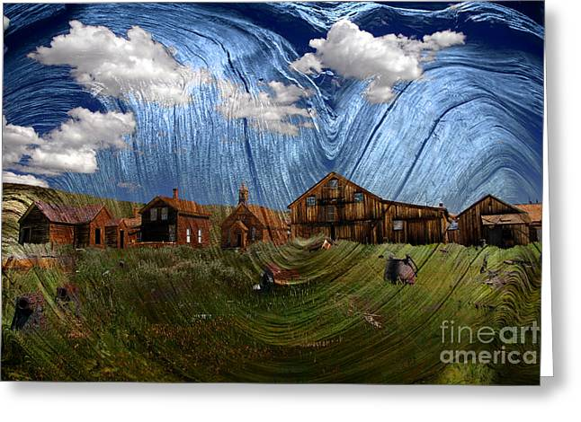 Wooden Ghost Town Greeting Card by Ronald Hoggard