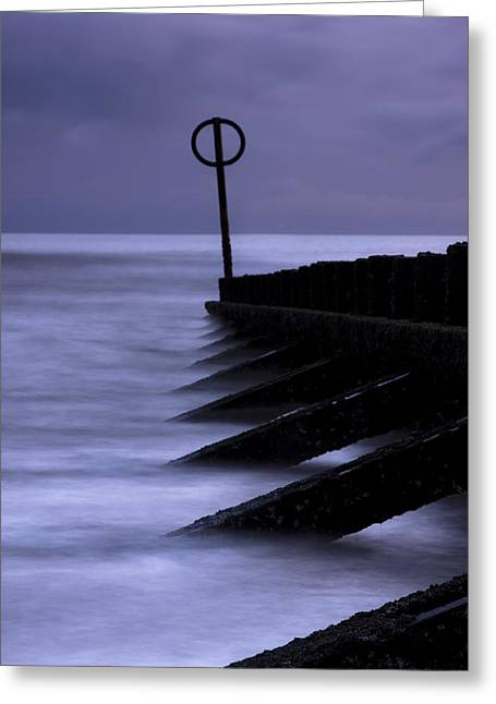 Wooden Groynes Of Aberdeen Scotland Greeting Card by Gabor Pozsgai
