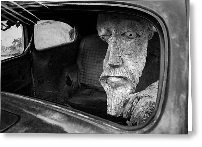 Greeting Card featuring the photograph Wooden Head by Jim Mathis