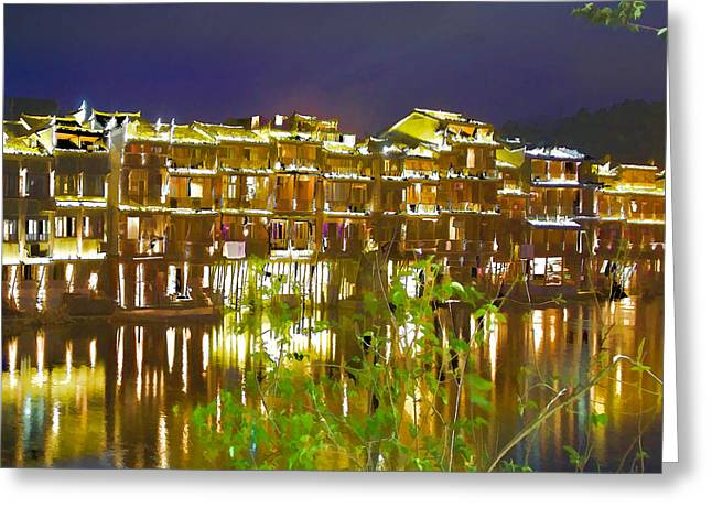 Wooden Houses 1 Greeting Card by Lanjee Chee