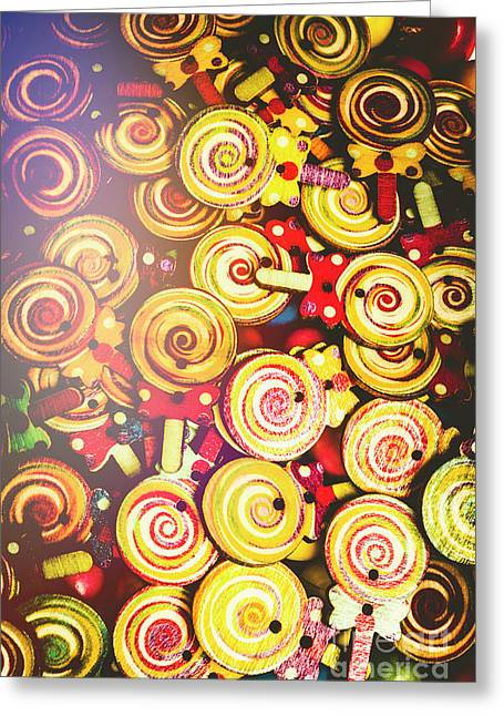Wooden Lollipops Greeting Card by Jorgo Photography - Wall Art Gallery