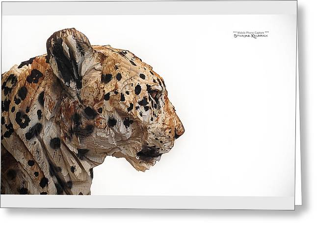 Greeting Card featuring the photograph Wooden Panther by Stwayne Keubrick
