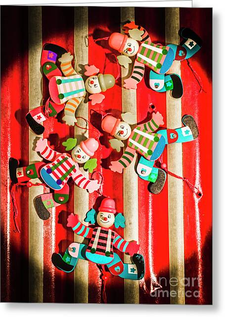 Wooden Puppet Show Greeting Card