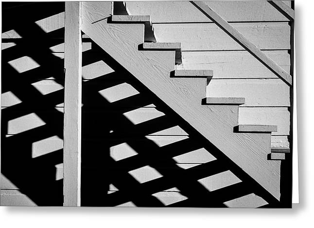 Wooden Stairs Greeting Card by Garry Gay