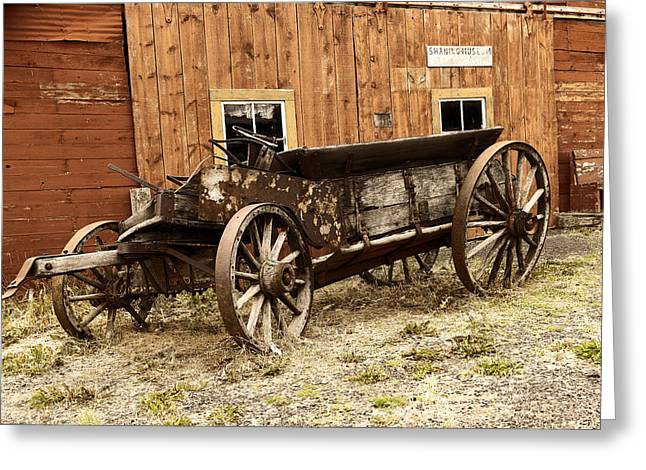 Wooden Wagon Greeting Card by Jeff Swan