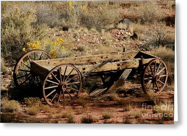Wooden Wagon Greeting Card by Robert  Torkomian