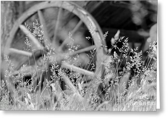 Greeting Card featuring the photograph Wooden Wagon Wheel by Beauty For God