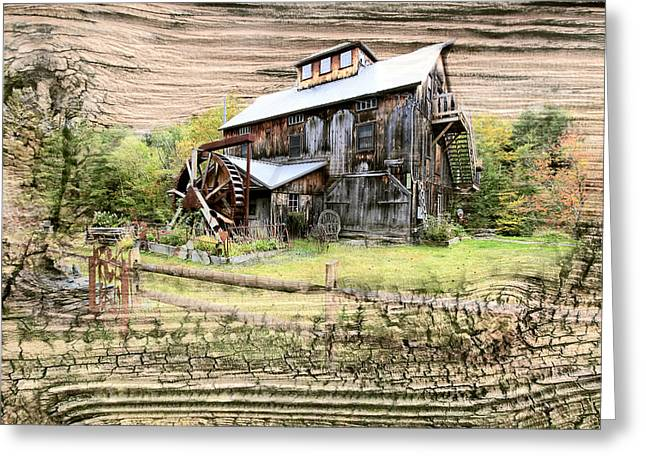 Wooden Water Mill Greeting Card by James Steele