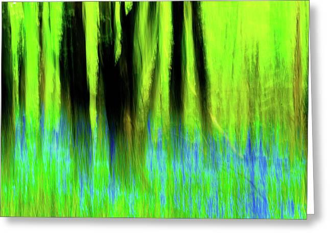 Woodland Abstract Vi Greeting Card