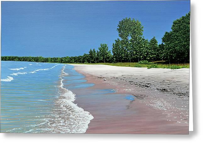 Woodland Beach Greeting Card by Kenneth M  Kirsch