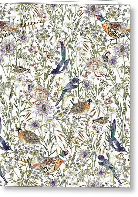Woodland Edge Birds Greeting Card