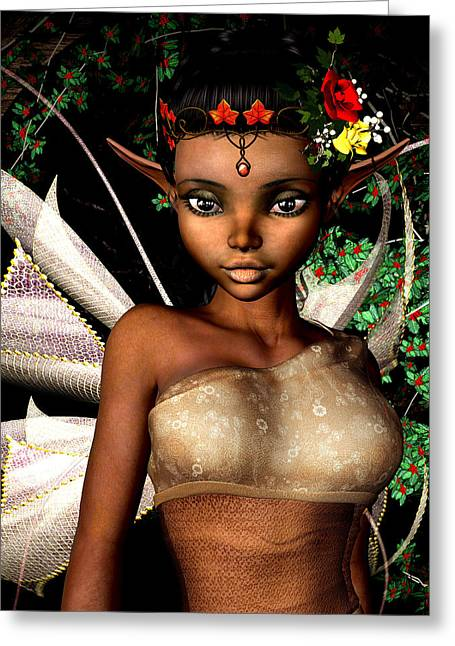 Woodland Fairy  Greeting Card by Alexander Butler