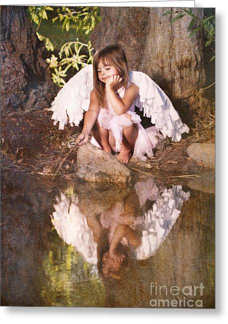 Singleton Greeting Cards - Woodland Fairy Greeting Card by Cindy Singleton