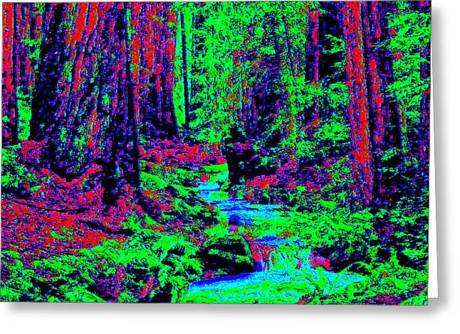Woodland Forest D3 Greeting Card by Modified Image