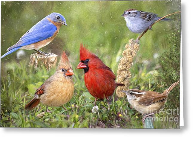 Woodland Friends Photo Painting Greeting Card