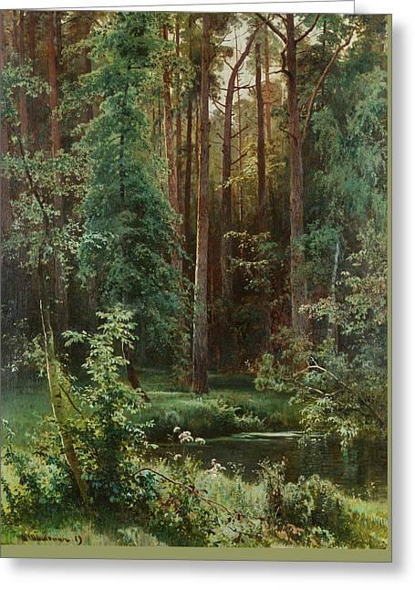 Woodland Greeting Card by Ivan Shishkin