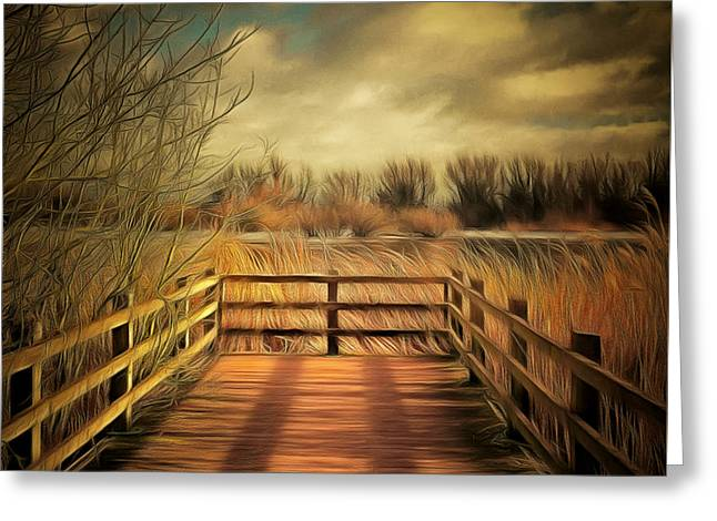 Woodland Jetty Greeting Card by Pixel Chimp