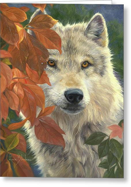 Woodland Prince Greeting Card by Lucie Bilodeau