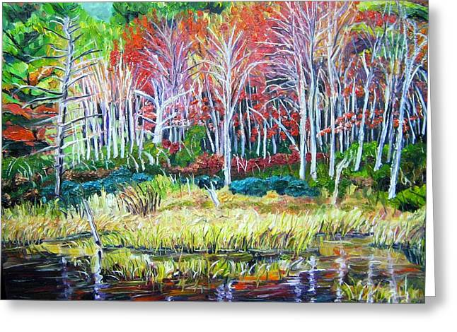 Woodland Reflections Greeting Card by Richard Nowak