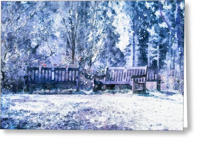 Woodland Snow  Greeting Card
