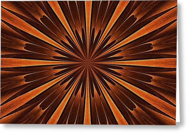 Woodland Spirits Mandala Greeting Card by Doug Morgan