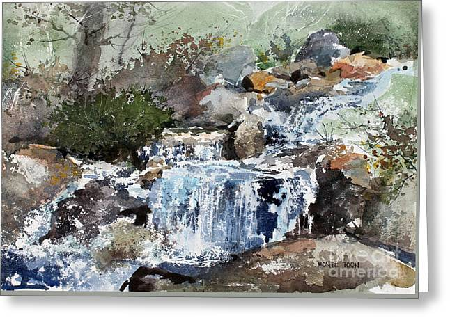 Woodland Stream Greeting Card by Monte Toon