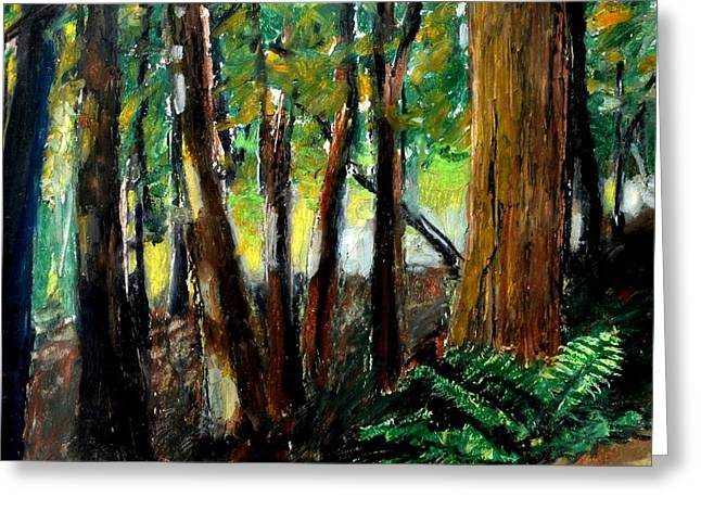 Woodland Trail Greeting Card by Michelle Calkins