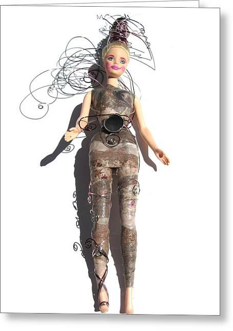 Woodland Warrior Princess Fairy Enelma Greeting Card by Shelia Howe