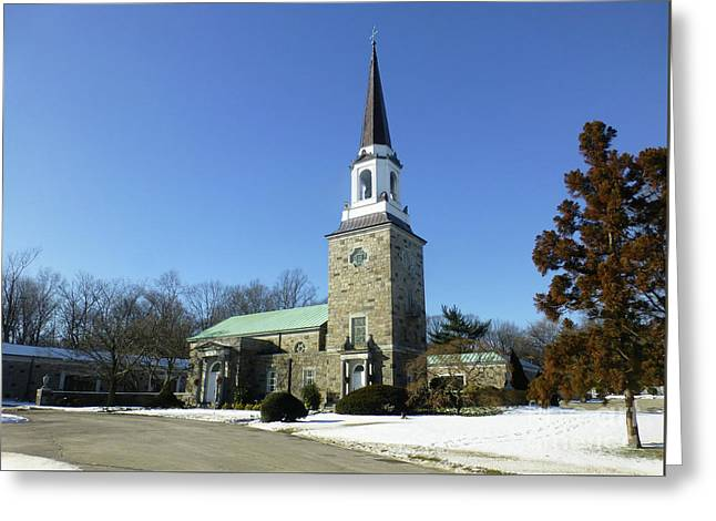 Woodlawn Cemetery Chapel Greeting Card
