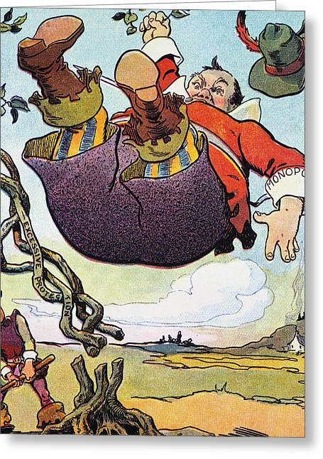 Woodrow Wilson Cartoon Greeting Card by Granger