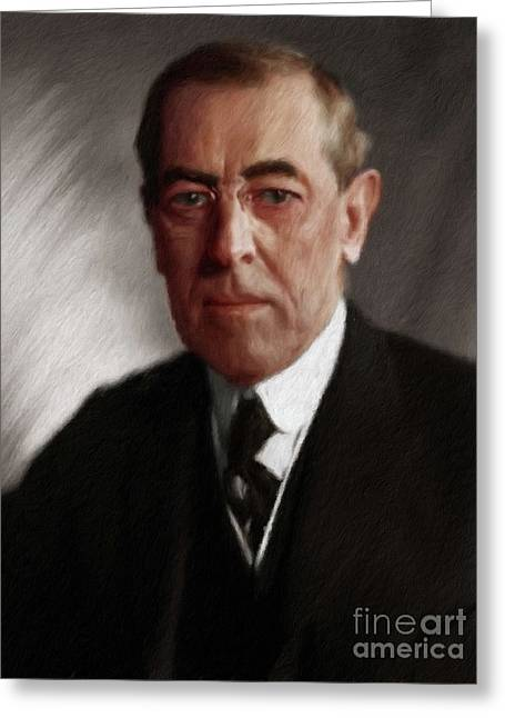 Woodrow Wilson, President Greeting Card