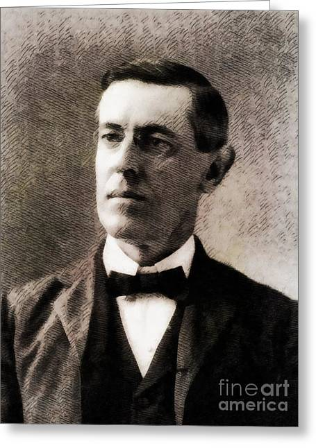 Woodrow Wilson, President Of The United States By John Springfield Greeting Card