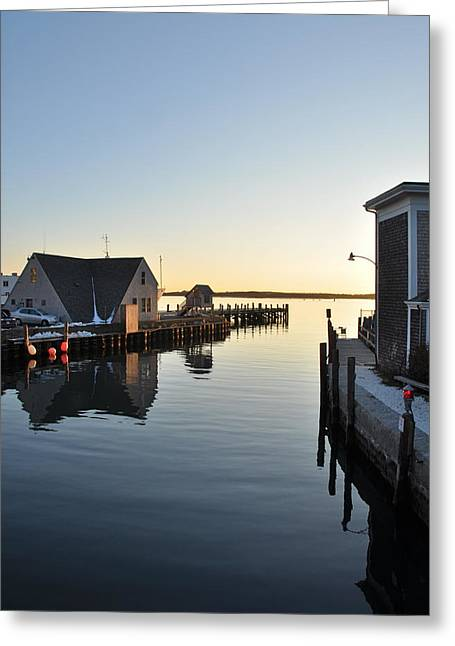 Woods Hole In Winter Greeting Card by Gerald Hiam