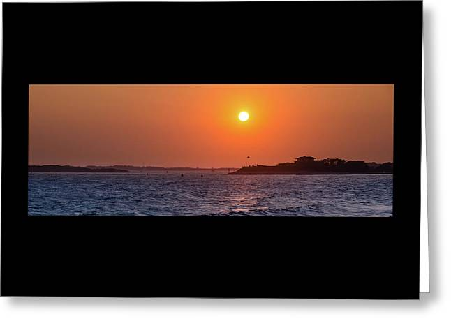 Woods Hole Sunset Greeting Card