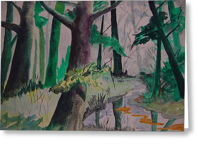 Woods Greeting Card by Ron Sylvia