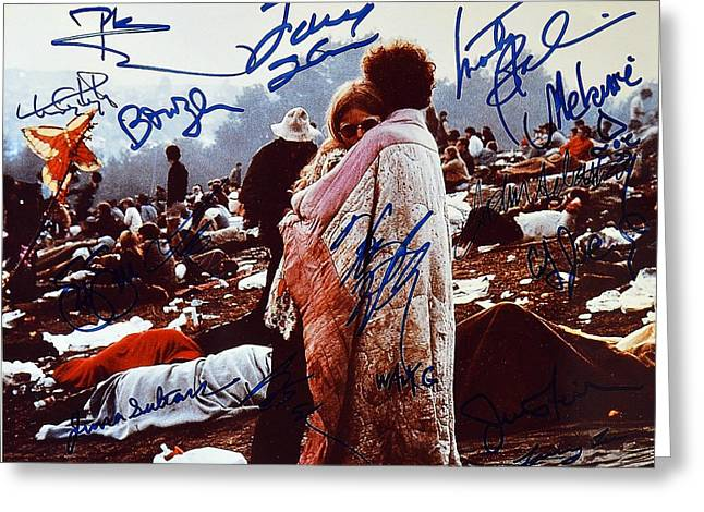 Woodstock Album Cover Signed Greeting Card