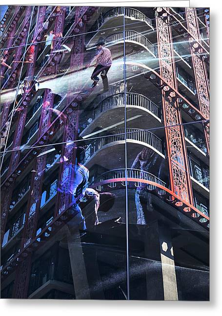 Woodward Building Stanley Cup Riots Greeting Card by Theresa Tahara