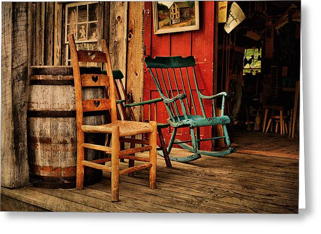 Woodworker's Porch Greeting Card