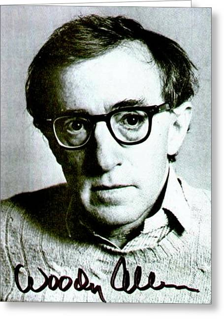 Woody Allen Autographed Portrait Greeting Card by Pd