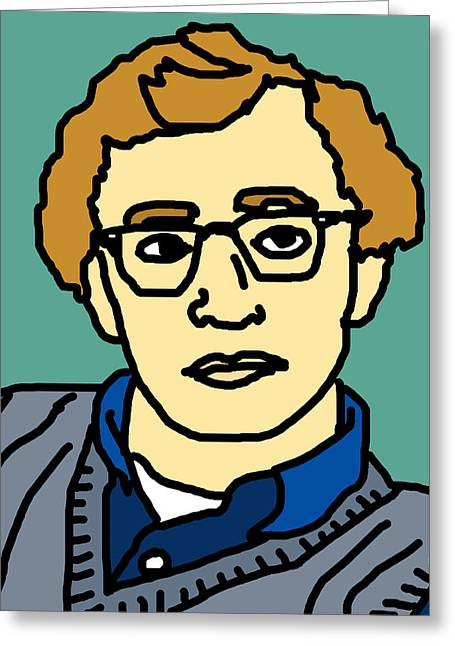 Woody Allen Greeting Card by Jera Sky