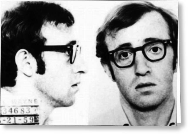 Woody Allen Mug Shot For Film Character Virgil 1969 Greeting Card