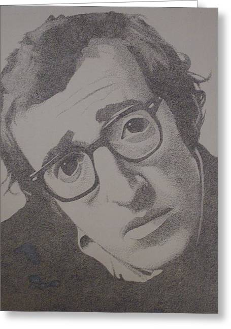 Woody Allen Greeting Cards - Woody Greeting Card by Dale Powell