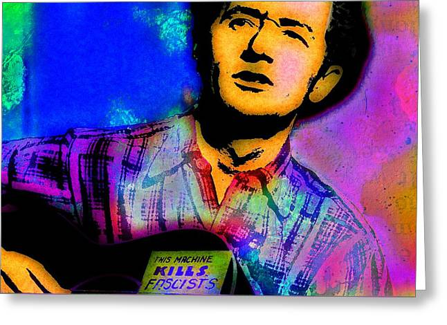 Woody Guthrie B Greeting Card by Otis Porritt