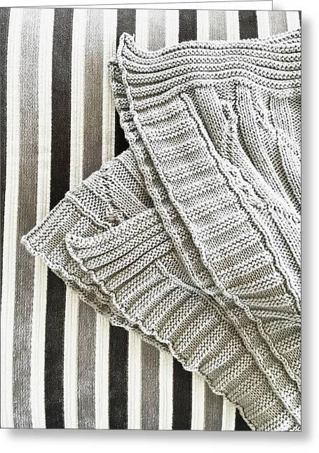 Wool Throw Greeting Card by Tom Gowanlock