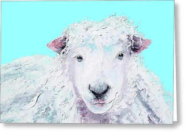 Woolly Sheep  Greeting Card by Jan Matson