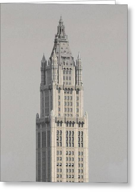 Woolworth  Black And White Two Greeting Card by Christopher Kirby