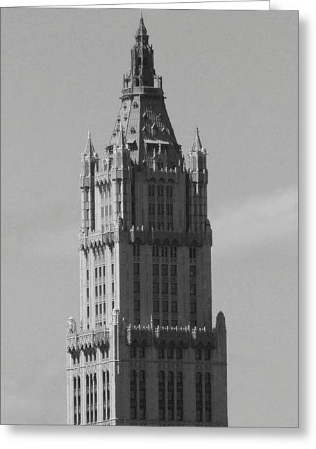 Woolworth Building Black And White Greeting Card