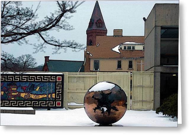 Worcester Greeting Cards - Worcester Art Greeting Card by Frank Garciarubio