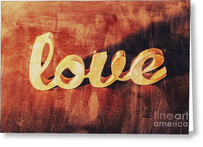 Word Art Romance Greeting Card