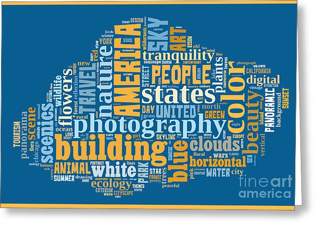 Word Cloud Of Popular Faa Keywords Greeting Card by Edward Fielding